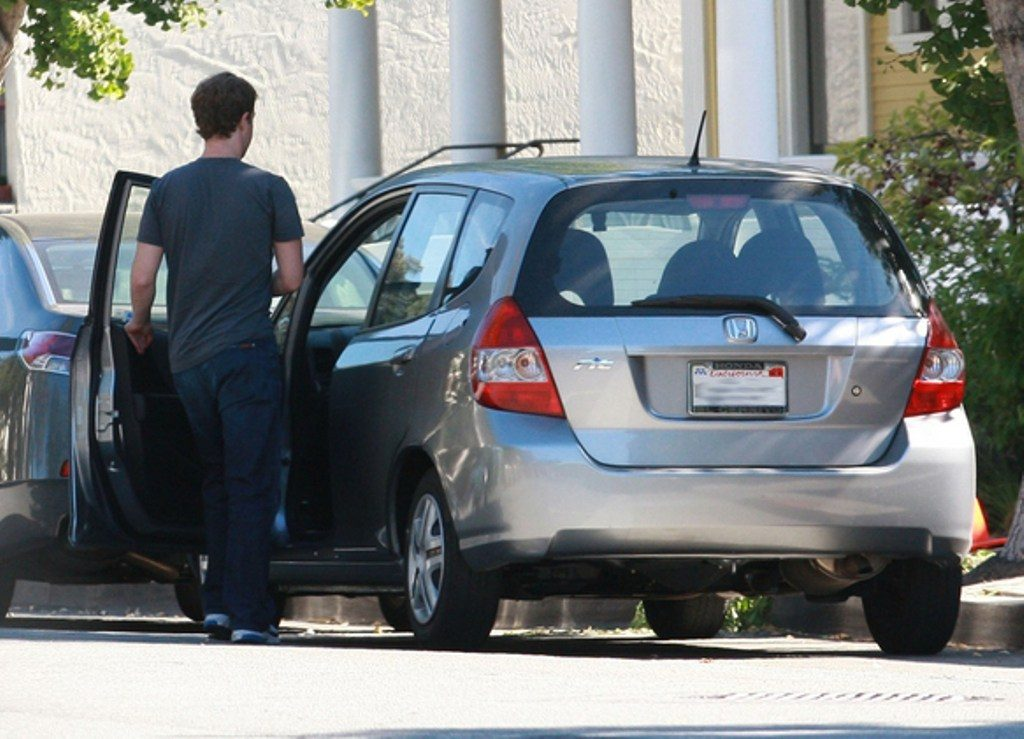 Mark Zuckerberg and his 2015 Honda Fit
