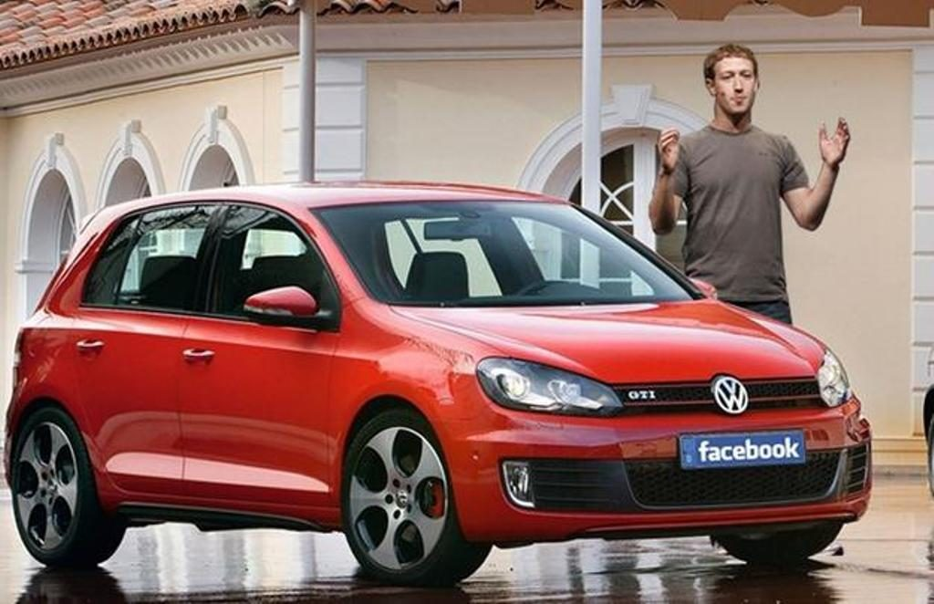Mark Zuckerberg Volkswagen Golf GTI